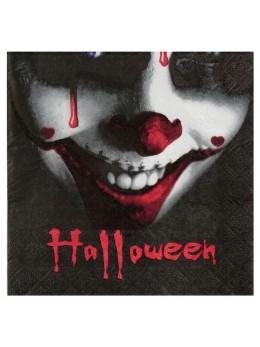 20 serviettes clown Halloween