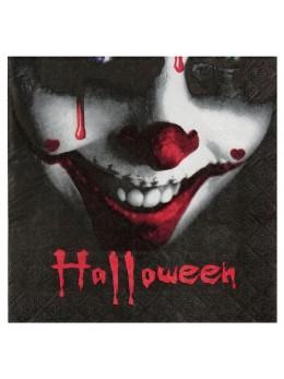 20 serviettes clown Halloween