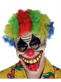 Masque clown rieur multicolore