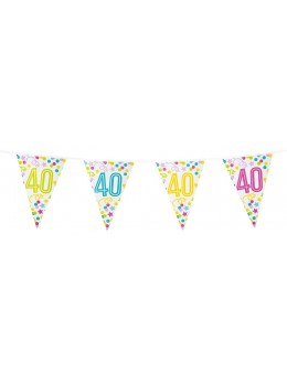 Guirlande 40 ans confetti étoiles