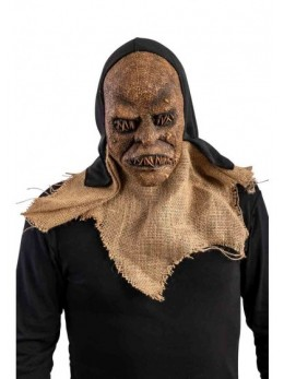 Masque Halloween toile de jute avec capuche