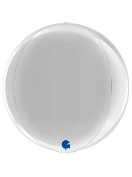Ballon bulle alu argent 38 cm