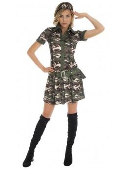 Costume robe sexy militaire