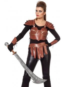 Set déguisement xena guerrière simili cuir