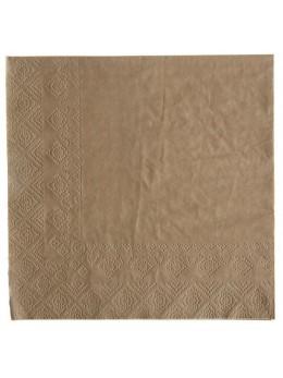 20 serviettes papier couleur kraft