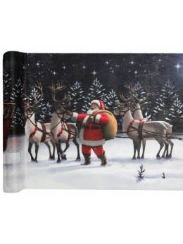 Chemin de table traineau du Père Noël
