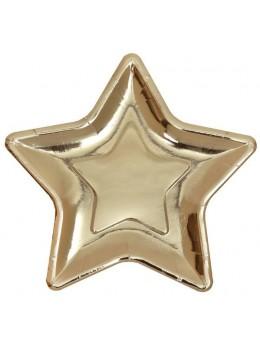 10 assiettes étoile or