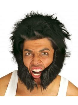 barbe rouflaquettes noires