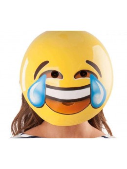 Masque emoticone mort de rire adulte