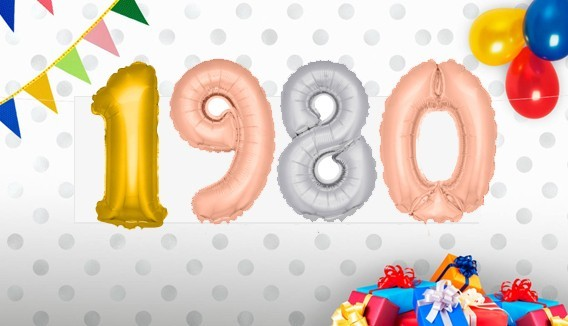 Ballons alu age  décoration originale
