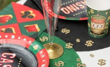 Soirée à thème Casino - Déguisement Las Vegas : Jeton, nappe, déco, etc - Fête en Folie